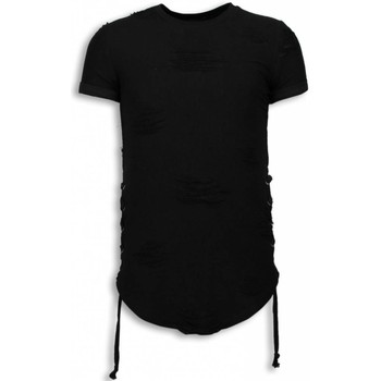 Textiel Heren T-shirts korte mouwen John H Destroyed Look T-shirt - Ribbon Long Fit Sweater 38
