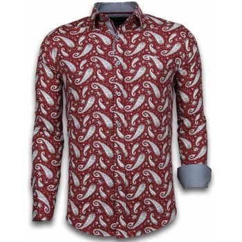 Textiel Heren Overhemden lange mouwen Tony Backer Italiaanse Overhemden - Slim Fit -  Flower Pattern -