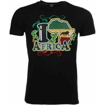 Textiel Heren T-shirts korte mouwen Local Fanatic I Love Africa Zwart