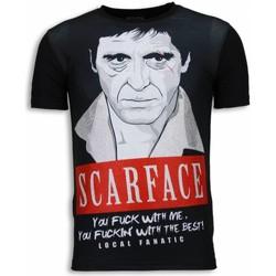Textiel Heren T-shirts korte mouwen Local Fanatic Scarface Red Scar - Digital Rhinestone T-shirt 38