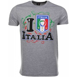 Textiel Heren T-shirts korte mouwen Local Fanatic I Love Italia Grijs