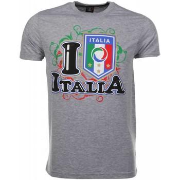 Textiel Heren T-shirts korte mouwen Mascherano T-shirt I Love Italia 35