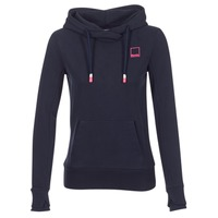 Textiel Dames Sweaters / Sweatshirts Bench HER.HOODY CORP LOGO BACK Marine