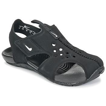 Schoenen Kinderen Sandalen / Open schoenen Nike SUNRAY PROTECT 2 TODDLER Zwart / Wit