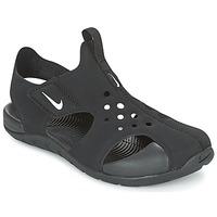 Schoenen Kinderen slippers Nike SUNRAY PROTECT 2 CADET Zwart / Wit