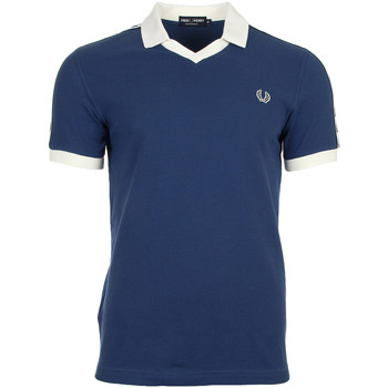 Textiel Heren Polo's korte mouwen Fred Perry Taped Pique Shirt Snow White