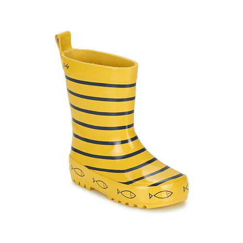 Schoenen Kinderen Regenlaarzen Be Only TIMOUSS Geel / Blauw