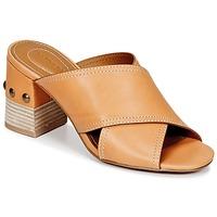 Schoenen Dames Leren slippers See by Chloé SB30083 Camel