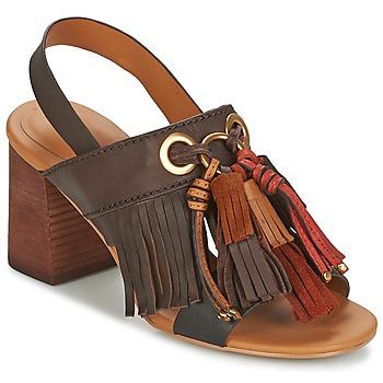 Schoenen Dames Sandalen / Open schoenen See by Chloé SB30102 Bruin