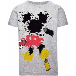 Textiel Jongens T-shirts korte mouwen Name It Kids NITMICKEY COLT SS TOP MINI Gris