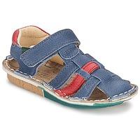 Schoenen Jongens Sandalen / Open schoenen El Naturalista KIRI Blauw / Rood