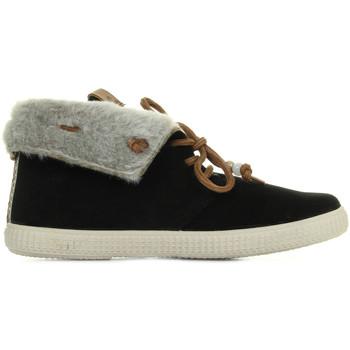 Schoenen Dames Hoge sneakers Victoria Deportivo Serraje Zwart