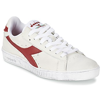 Schoenen Lage sneakers Diadora GAME L LOW WAXED Wit / Rood