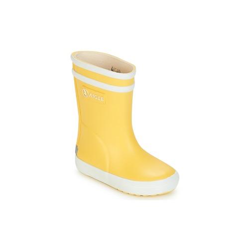 Schoenen Kinderen Regenlaarzen Aigle BABY FLAC Geel