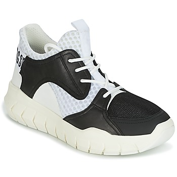 Schoenen Heren Lage sneakers Bikkembergs FIGHTER 2022 LEATHER Zwart / Wit