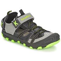 Schoenen Jongens Sandalen / Open schoenen Kangaroos KANGASPEED 2068 Zwart / Groen