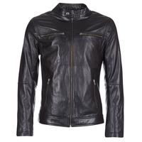 Textiel Heren Leren jas / kunstleren jas Yurban IHEXO Zwart
