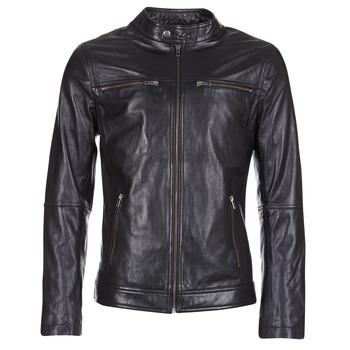 Textiel Heren Leren jas / kunstleren jas Casual Attitude IHEXO Zwart