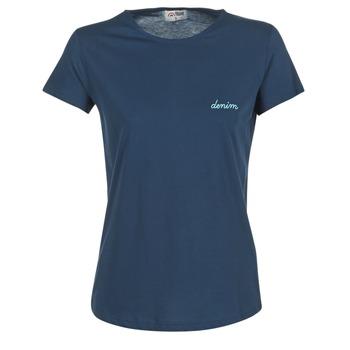 Textiel Dames T-shirts korte mouwen Yurban HOULOU Marine