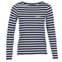 Textiel Dames T-shirts met lange mouwen Betty London IFLIGEME Marine / Wit