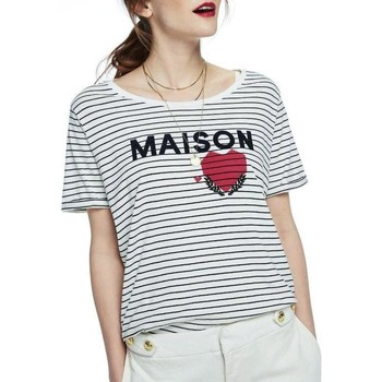 Textiel Dames T-shirts korte mouwen Maison Scotch SHORT SLEEVE RELAXED LOGO TEE