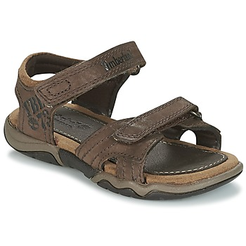 Schoenen Kinderen Outdoorsandalen Timberland OAK BLUFFS LEATHER 2STRAP Bruin