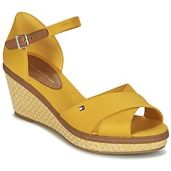 Schoenen Dames Sandalen / Open schoenen Tommy Hilfiger ICONIC ELBA SANDAL BASIC Geel