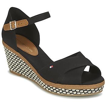Schoenen Dames Sandalen / Open schoenen Tommy Hilfiger ICONIC ELBA SANDAL BASIC Zwart