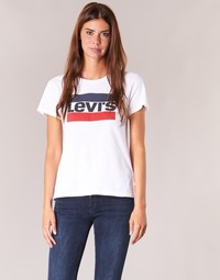 Textiel Dames T-shirts korte mouwen Levi's THE PERFECT TEE Wit