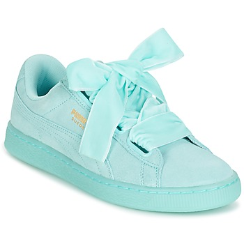236abc35475 Schoenen Dames Lage sneakers Puma SUEDE HEART RESET WN'S Blauw / Pastel 85%  OFF
