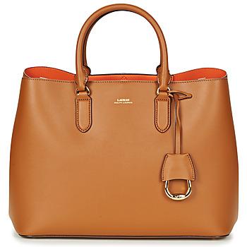 Tassen Dames Handtassen kort hengsel Lauren Ralph Lauren DRYDEN MARCY TOTE Cognac / Oranje