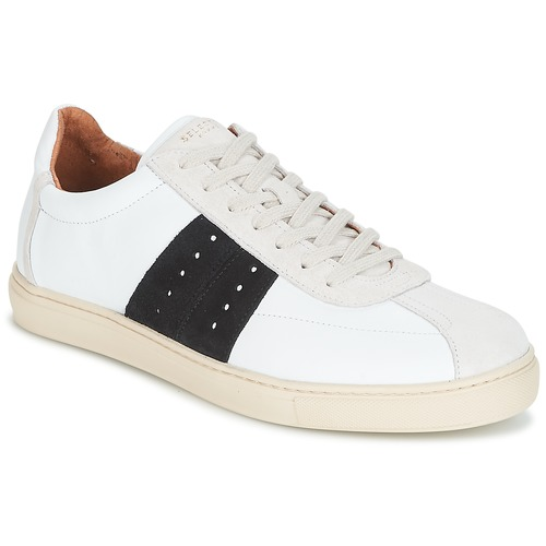 Schoenen Heren Lage sneakers Selected SHNDURAN NEW MIX SNEAKER Wit / Marine