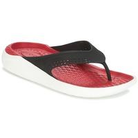 Schoenen Teenslippers Crocs LITERIDE FLIP Zwart / Rood