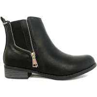 Schoenen Dames Laarzen Cassis Côte d'Azur LUTY  Boots Noir a talons Zwart