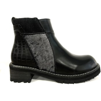 Schoenen Dames Laarzen Cassis Côte d'Azur Noe Bottines Vernis Noir Zwart