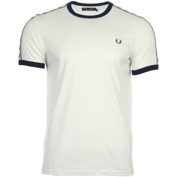 Textiel Heren T-shirts korte mouwen Fred Perry Taped Ringer T-shirt Snow White