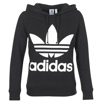 Textiel Dames Sweaters / Sweatshirts adidas Originals TREFOIL HOODIE Zwart