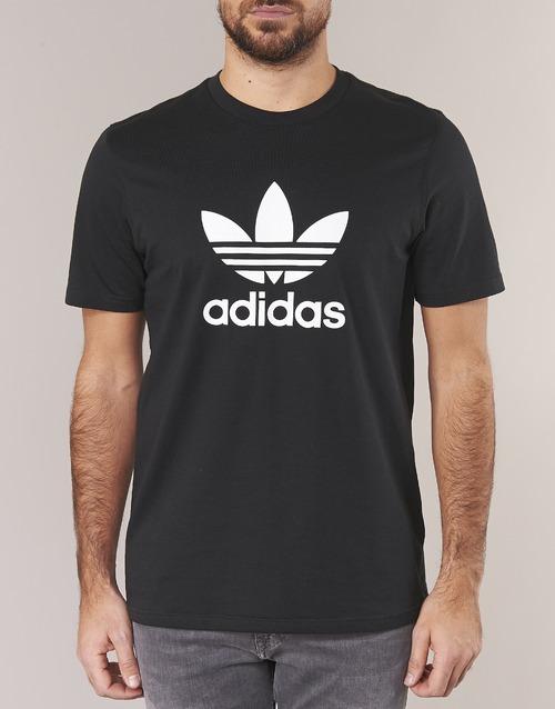 Adidas Originals Trefoil T Shirt Zwart - Gratis Levering AxJ3EE