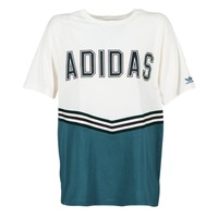 Textiel Dames T-shirts korte mouwen adidas Originals ADIBREAK SS TEE Wit / Marine