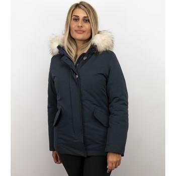Textiel Dames Parka jassen Matogla Winterjassen - Dames Winterjas Wooly Kort - Grote Bontkraag 19