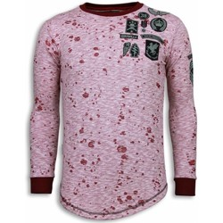Textiel Heren Sweaters / Sweatshirts Local Fanatic Longfit Embroidery Patches Guerrilla Roze