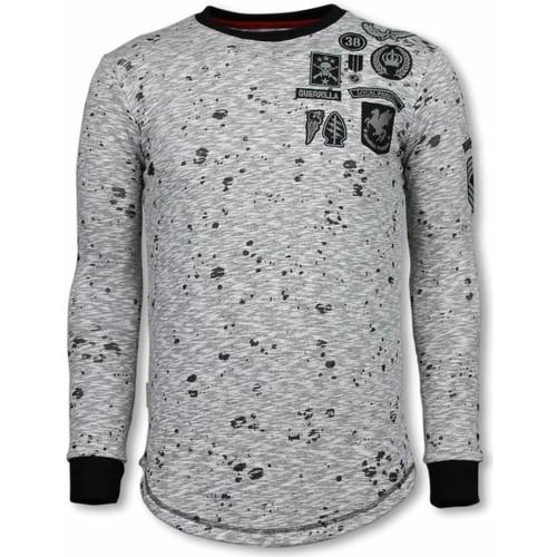 Textiel Heren Sweaters / Sweatshirts Local Fanatic Longfit Embroidery Patches Guerrilla Grijs