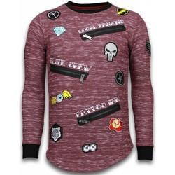 Textiel Heren Sweaters / Sweatshirts Local Fanatic Longfit Embroidery - Sweater Patches - Elite Crew Bordeaux