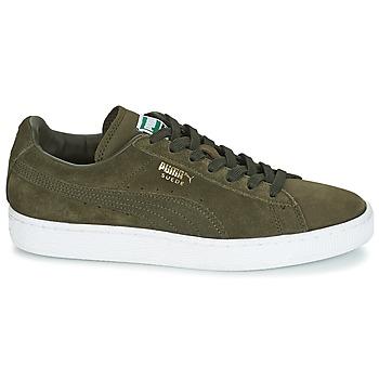 df4add062ad hete verkoop Schoenen Heren Lage sneakers Puma SUEDE CLASSIC + Kaki / Wit