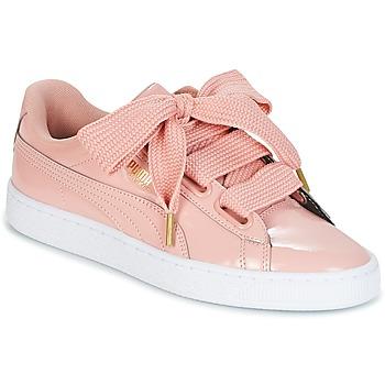 Schoenen Dames Lage sneakers Puma BASKET HEART PATENT W'S Roze