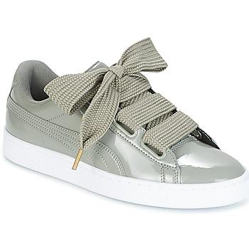 Schoenen Dames Lage sneakers Puma BASKET HEART PATENT W'S Grijs