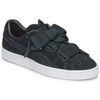 Schoenen Meisjes Lage sneakers Puma SUEDE HEART VALENTINE JR Zwart