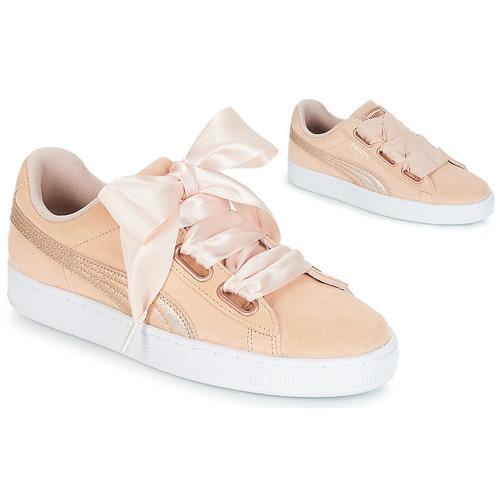 Schoenen Dames Lage sneakers Puma SUEDE HEART LUNALUX W'S Roze