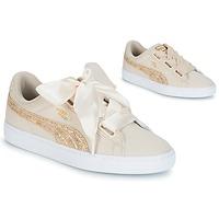 Schoenen Dames Lage sneakers Puma BASKET HEART CANVAS W'S Beige