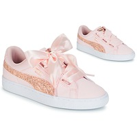 Schoenen Dames Lage sneakers Puma BASKET HEART CANVAS W'S Roze
